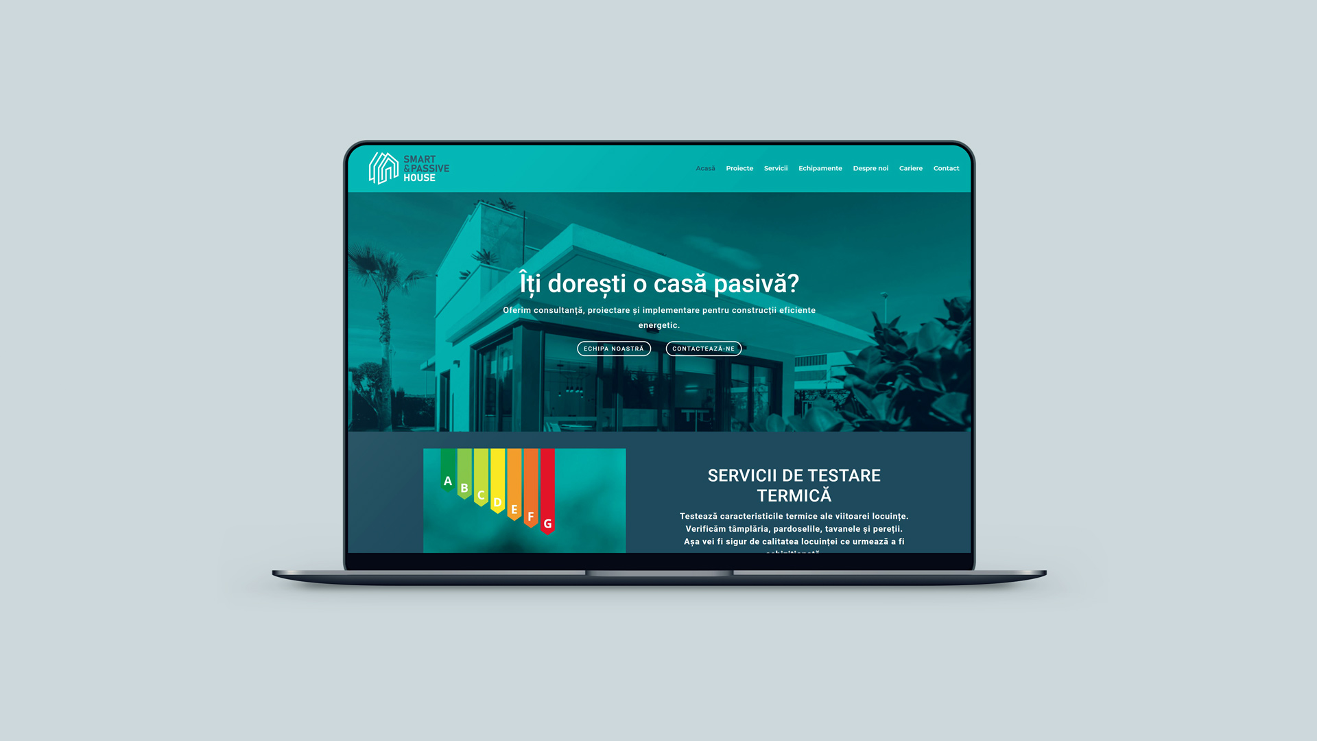 Smart and Passive House - Website Design